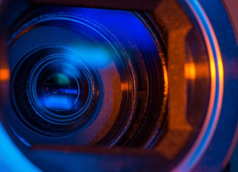 Objectif caméra de vidéosurveillance